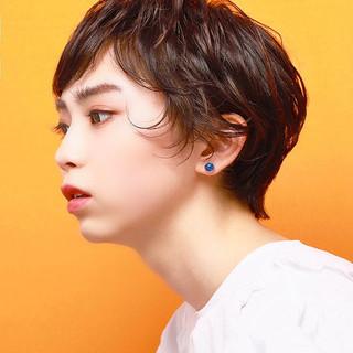 レイヤーカット 春ヘア ショートボブ ショート ヘアスタイルや髪型の写真・画像