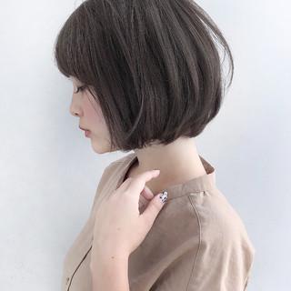 デート ミニボブ アウトドア ボブ ヘアスタイルや髪型の写真・画像
