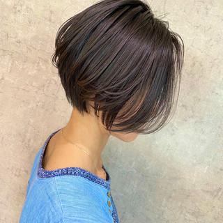 ショート ショートヘア ナチュラル 小顔ショート ヘアスタイルや髪型の写真・画像