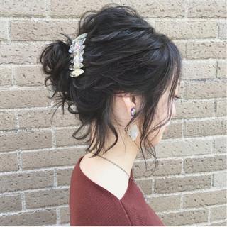 ナチュラル ボブ ガーリー 結婚式 ヘアスタイルや髪型の写真・画像 ヘアスタイルや髪型の写真・画像