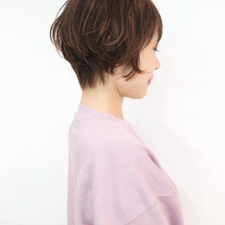 ベリーショート ショートボブ ショートヘア グレージュ ヘアスタイルや髪型の写真・画像