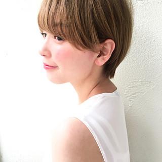 ウェットヘア ショート ナチュラル 透明感 ヘアスタイルや髪型の写真・画像