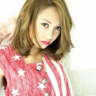 外国人風 ゆるふわ 秋 ミディアム ヘアスタイルや髪型の写真・画像
