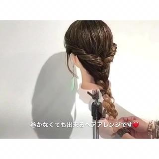 オフィス デート ヘアアレンジ ロング ヘアスタイルや髪型の写真・画像