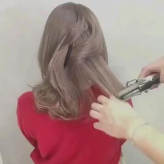 ミルクティーベージュ ナチュラル グレージュ ミルクティー ヘアスタイルや髪型の写真・画像
