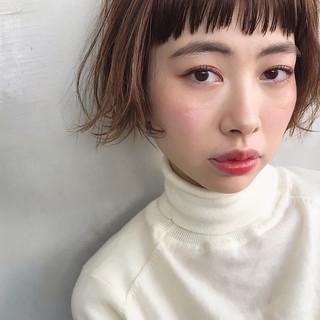 ナチュラル 小顔ショート デート ボブ ヘアスタイルや髪型の写真・画像