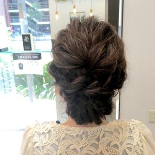 編み込み ゆるふわ ラフ ロング ヘアスタイルや髪型の写真・画像