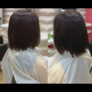 ナチュラル ミディアム 髪質改善カラー 髪質改善トリートメント ヘアスタイルや髪型の写真・画像