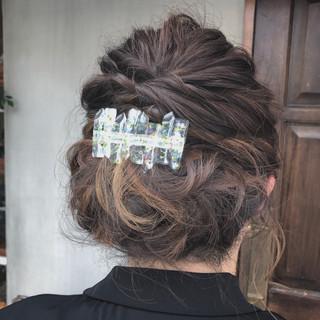 ナチュラル ボブ 結婚式 ゆるふわ ヘアスタイルや髪型の写真・画像