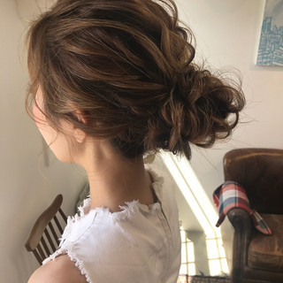 結婚式 上品 成人式 エレガント ヘアスタイルや髪型の写真・画像