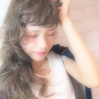 ロング 大人かわいい 簡単 ゆるふわ ヘアスタイルや髪型の写真・画像