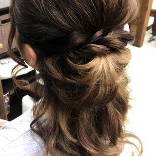 セミロング デート ヘアアレンジ 女子会 ヘアスタイルや髪型の写真・画像
