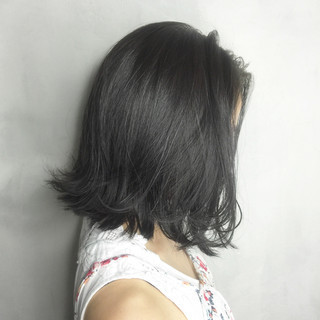 ストリート 黒髪 グラデーションカラー アッシュ ヘアスタイルや髪型の写真・画像
