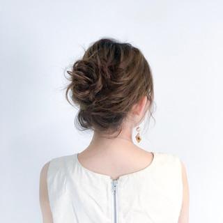 フェミニン ルーズ 簡単ヘアアレンジ セミロング ヘアスタイルや髪型の写真・画像