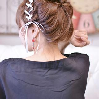 ラフ ガーリー デート ゆるふわ ヘアスタイルや髪型の写真・画像