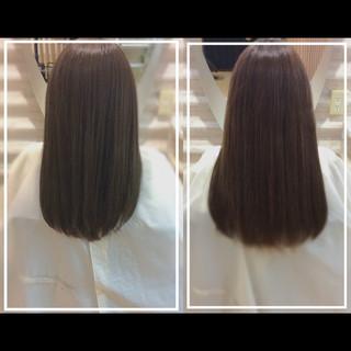 社会人の味方 ロング 髪質改善カラー 髪質改善 ヘアスタイルや髪型の写真・画像