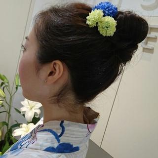 ヘアアレンジ ロング ガーリー 夏 ヘアスタイルや髪型の写真・画像