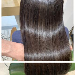 ロング オフィス ナチュラル 簡単ヘアアレンジ ヘアスタイルや髪型の写真・画像