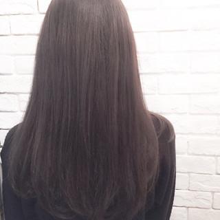 外国人風 セミロング 暗髪 冬 ヘアスタイルや髪型の写真・画像