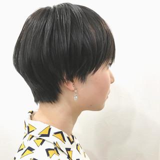 黒髪 ショートヘア 大人女子 ショート ヘアスタイルや髪型の写真・画像