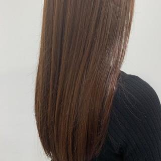 ロング レッド エレガント レッドカラー ヘアスタイルや髪型の写真・画像