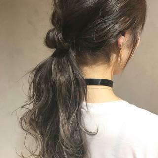 ヘアアレンジ リラックス ロング アンニュイ ヘアスタイルや髪型の写真・画像