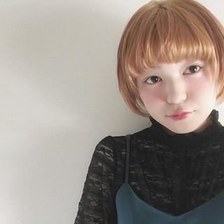 ガーリー 春 ハイトーン 女子会 ヘアスタイルや髪型の写真・画像