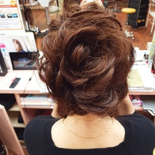 山口県 エレガント ヘアアレンジ ロング ヘアスタイルや髪型の写真・画像