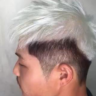 メンズ メンズヘア メンズカット ホワイトカラー ヘアスタイルや髪型の写真・画像