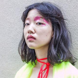 アッシュ 春 ニュアンス パーマ ヘアスタイルや髪型の写真・画像