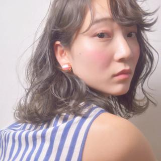 ふわふわ 春 ミディアム ヘアアレンジ ヘアスタイルや髪型の写真・画像