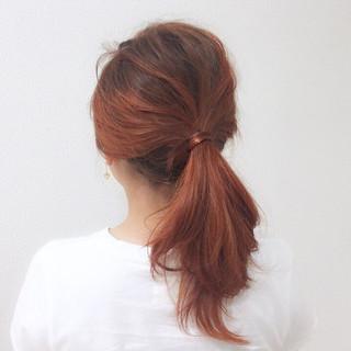 ストリート スポーツ ハイライト オレンジ ヘアスタイルや髪型の写真・画像