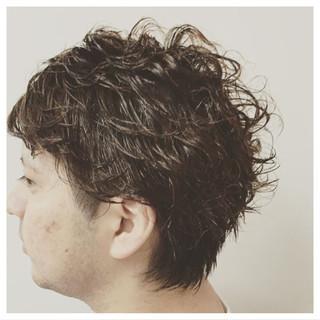 ショート パーマ 似合わせ 黒髪 ヘアスタイルや髪型の写真・画像