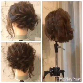 ショート パーティ ボブ 簡単ヘアアレンジ ヘアスタイルや髪型の写真・画像