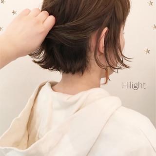 ストリート ハイライト ボブ 外ハネ ヘアスタイルや髪型の写真・画像