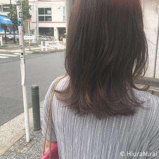 ヘアアレンジ ナチュラル ミディアム 涼しげ ヘアスタイルや髪型の写真・画像