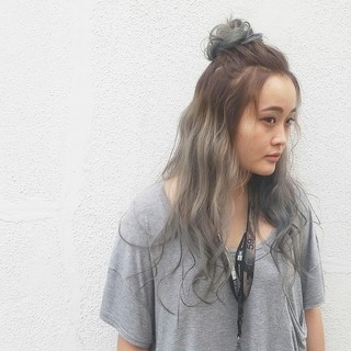 ハーフアップ ロング ヘアアレンジ 簡単ヘアアレンジ ヘアスタイルや髪型の写真・画像