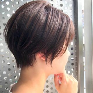 ショートヘア ショートボブ 前下がりボブ ショート ヘアスタイルや髪型の写真・画像
