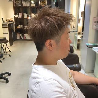 ナチュラル ショート グレージュ ダブルブリーチ ヘアスタイルや髪型の写真・画像