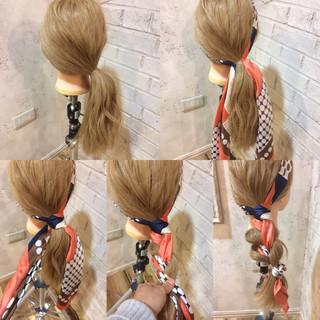 ゆるふわ 大人女子 簡単ヘアアレンジ ヘアアレンジ ヘアスタイルや髪型の写真・画像