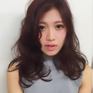 大人かわいい 丸顔 フェミニン ガーリー ヘアスタイルや髪型の写真・画像 ヘアスタイルや髪型の写真・画像