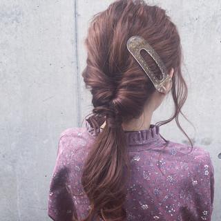 アンニュイほつれヘア ヘアアレンジ ロング 簡単ヘアアレンジ ヘアスタイルや髪型の写真・画像