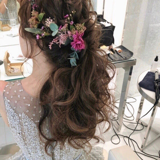 ヘアアレンジ 結婚式ヘアアレンジ おしゃれさんと繋がりたい ゆるナチュラル ヘアスタイルや髪型の写真・画像 ヘアスタイルや髪型の写真・画像