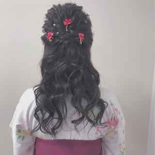 エレガント 袴 ヘアアレンジ ロング ヘアスタイルや髪型の写真・画像