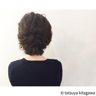 外国人風 アッシュ セミロング 結婚式 ヘアスタイルや髪型の写真・画像