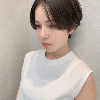 ショート モード セクシー オフィス ヘアスタイルや髪型の写真・画像