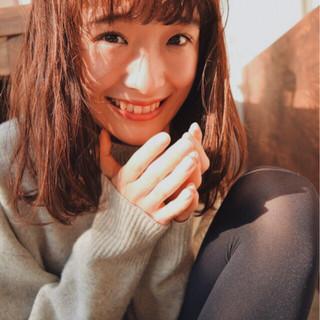 フェミニン 簡単 黒髪 ミディアム ヘアスタイルや髪型の写真・画像