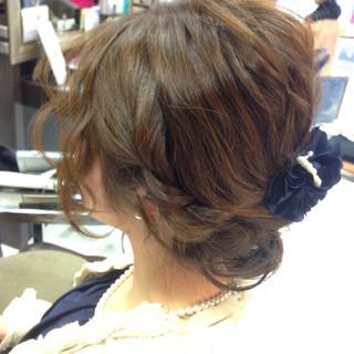 セミロング ガーリー 丸顔 簡単ヘアアレンジ ヘアスタイルや髪型の写真・画像 ヘアスタイルや髪型の写真・画像