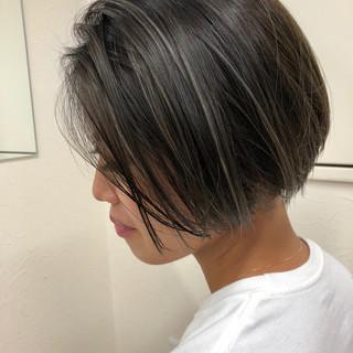スポーツ ボブ アウトドア フェミニン ヘアスタイルや髪型の写真・画像