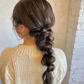 ゆるふわセット 編みおろし ヘアセット ナチュラル ヘアスタイルや髪型の写真・画像